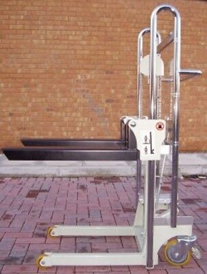 W&J 400KG Hydraulic Mini Stacker Truck Lift Height 1500mm Attachments Available