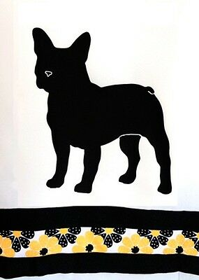 French Bulldog Shower Curtain *Original white with black and gold..