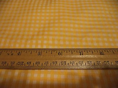 MEDIUM CHECK GINGHAM FABRIC -- YELLOW --  BY THE YARD - 4 YARDS