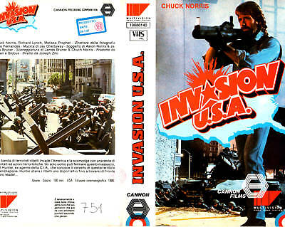 Invasion U.S.A. USA (1986) VHS 1° ed Cannon - C. NORRIS
