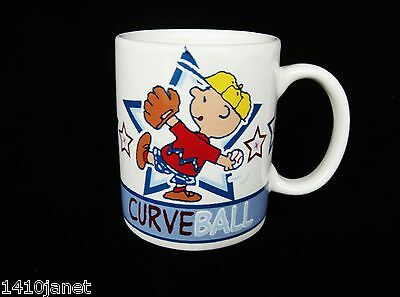 Peanuts Play Ball 11 oz Mug Charlie Brown Pitching Curve Ball by Gibson