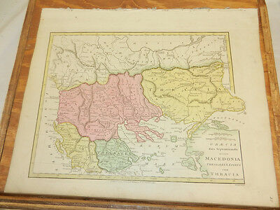 1808 Antique COLOR Map/ATLAS CLASSICA/GREECE,MACEDONIA,THESSALY,EPIRUM,THRACE