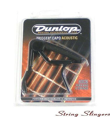 Dunlop 83CB 'Trigger' Capo for 6-string Acoustic/Electric guitar, Black