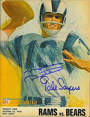 Mike Ditka & Gale Sayers signed 1966 Football Program vs the Rams