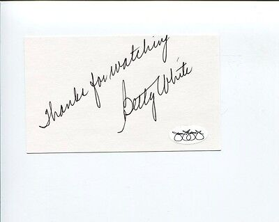 Betty White Golden Girls The Simpsons Hot In Cleveland Signed Autograph JSA