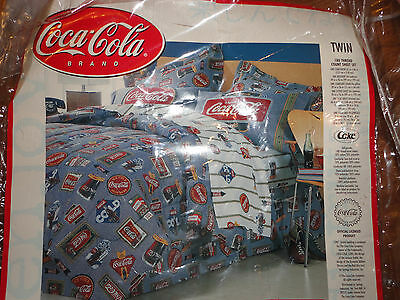Ice Cold Coca Cola Brand Coke Brand Twin Bed skirt Pillowcase Blanket Bedding