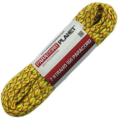 Explode 550 Paracord Mil Spec Type III 7 Strand Parachute Cord 100 ft Hank