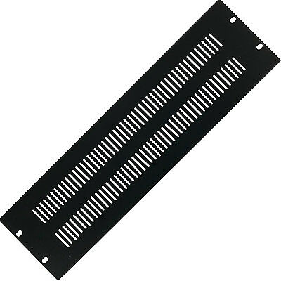 """19"""" 3U Vented Blanking Rack Patch Panel–Module Cover Plate Mount–Equipment Case"""