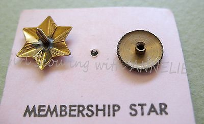 1920s SCREW-BACK Girl Scout Membership STAR NEW on CARD, Collectors GIFT