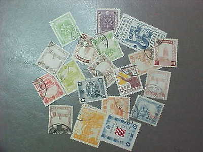 20 DIFFERENT MANCHUKUO STAMP COLLECTION - LOT
