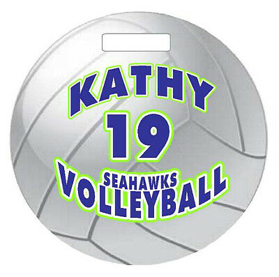 72831f8ab57 Personalized VOLLEYBALL BAGTAG LUGGAGE TAG 4