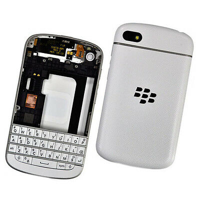 New OEM Full Housing Case Cover for Blackberry Q10 Replacement Parts White