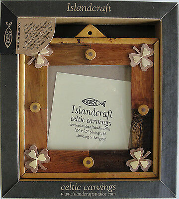 Shamrock Design Standing Or Hanging Wood Picture Frame B