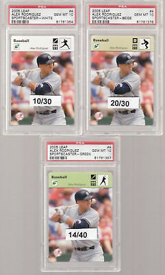 HUGE CARD COLLECTION PSA ALEX RODRIGUEZ YANKEES GRADED LOT RARE