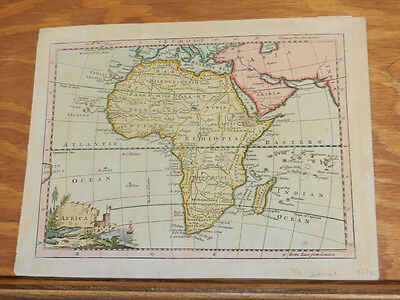 1772 Antique COLOR Map//AFRICA