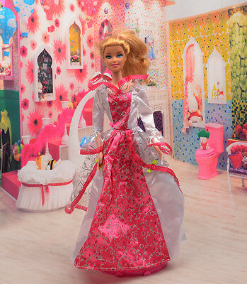 2014 Hot style Fashion Handmade princess  party Clothes dress For Noble Doll D44