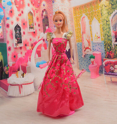 2014 Hot style Fashion Handmade princess  party Clothes dress For Noble Doll D36