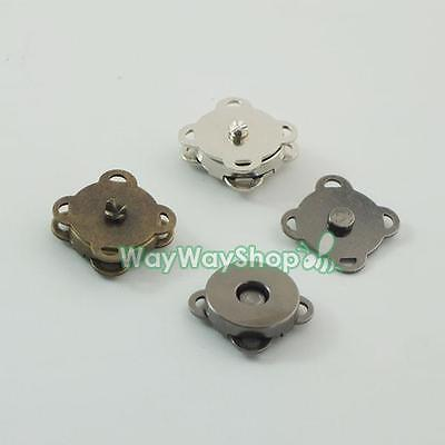 Magnetic snaps purse quincuncial 14mm Clasp for Bag Leather book Fabric