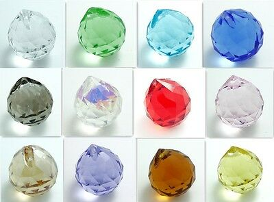 10pcs Facet crystal glass BALL DROP STRASS beads 20MM U choose color