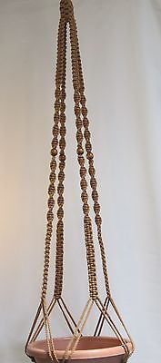 Macrame Plant Hanger 60in Deluxe- SAND - With Beads