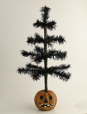 Halloween Decoration Real Feather Tree Bethany Lowe