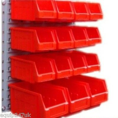 Pro Plastic Red Storage Bin Set Red Industrialquality  * Steel Louvre*