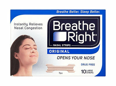 Breathe Right Nasal Strips 10 Pack / 30 Pack / Clear / Tan