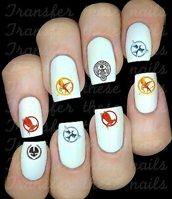 HUNGER GAMES logo 30 Stickers autocollant ongles manucure nail art water déco