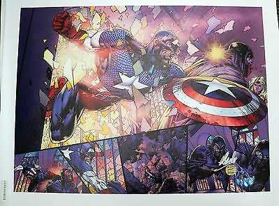 Ultimatum #4 Marvel Captain America Giclee Canvas David Finch Signed by Stan Lee