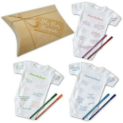 Personalised Sign- MY BABY GROW KEEPSAKE - baby shower game / leaving work gift