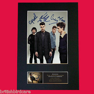 THE COURTEENERS Signed Autograph Mounted Photo Repro A4 Print 543