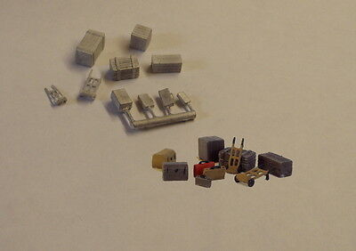 P&D Marsh N Gauge N Scale B61 Sack trucks/luggage/cases castings require paintin