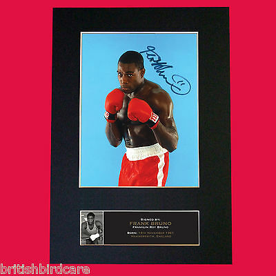 FRANK BRUNO Boxing Autograph Mounted Signed Photo Repro A4 Print 536