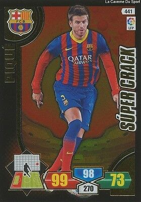 N°441 Pique # Espana Fc.barcelona Super Crack Card Panini Adrenalyn Liga 2014