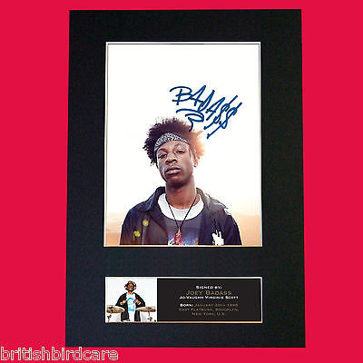 JOEY BADASS Signed Autograph Mounted Photo Repro A4 Print 541