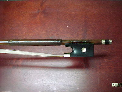 Old Violin Bow Stamped HERM. W. PRELL PARIS