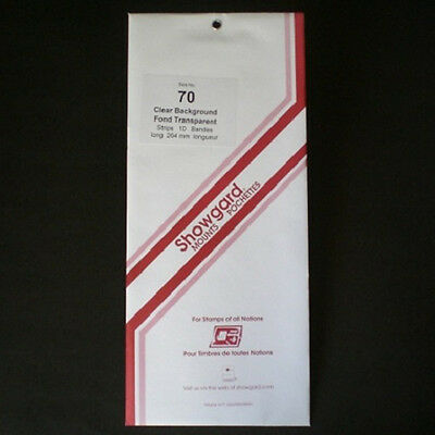 Showgard Stamp Mounts Size 70/264 CLEAR Background Pack of 10