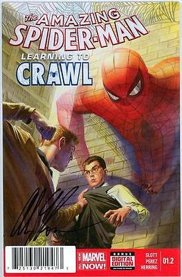 Amazing Spider-Man #1.2 Df Dynamic Forces Signed Alex Ross Coa 2014 Marvel Comic