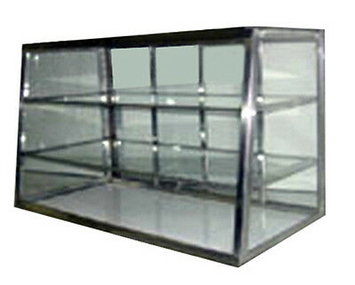 Carib Countertop Dry Bakery Display Case - Tapered Glass Showcase with Shelf 3T
