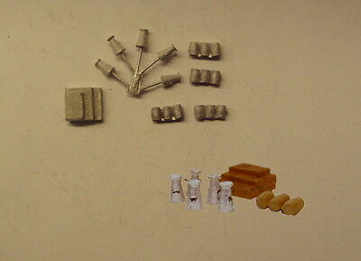 P&D Marsh N Gauge n Scale B484 Barrels/milk churns/boxes castings require painti