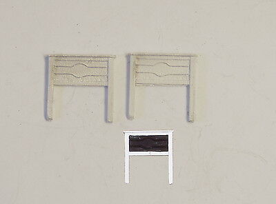 P&D Marsh N Gauge n Scale B33 LMS Station nameboards (2) castings need painting