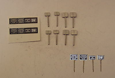P&D Marsh N Gauge n Scale B123 Trackside signs (8) castings require painting