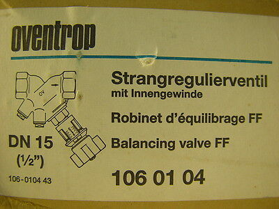 "Oventrop DN15 1/2"" Double Regulating Valve ~~~ LOT OF 4 ~~~"