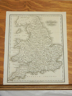 1846 Antique Map//ENGLAND AND WALES
