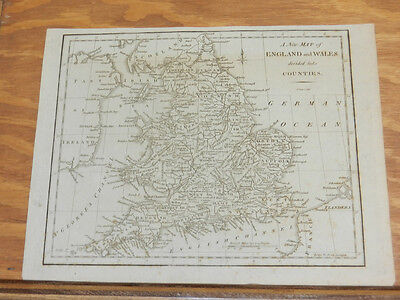 c1760 Antique Map//ENGLAND & WALES, DIVIDED INTO COUNTIES