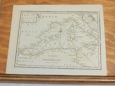 c1760 Antique Map//NEW CHART OF THE MEDITERRANEAN SEA