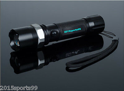 Cree Zoomable Tactical Led Rechargeable Flashlight 18650 Torch Police Lamp #02