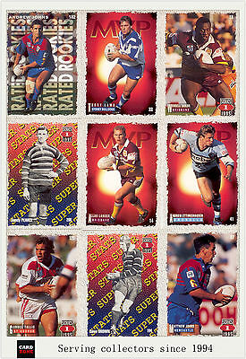 1995 Dynamic Rugby League Series (I) Trading Cards Full Base Set (220)