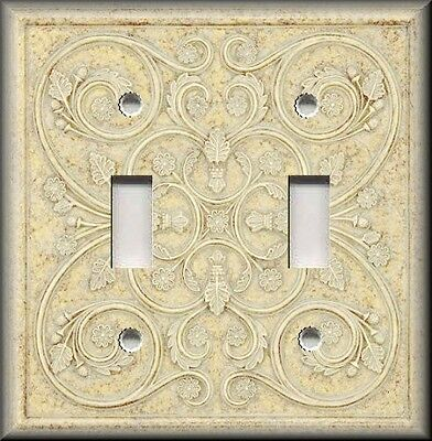Light Switch Plate Cover - Wall Decor - French Pattern Image - Ivory Home Decor