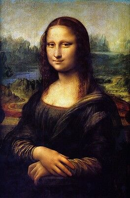 Oil Painting Print Picture Portraits Mona Lisa on canvas 16x24 Inches L084